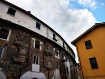Piazza dell ?Anfiteatro, Lucca, W?ochy zdjęcia stock