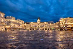 Piazza Dell Unita D& x27; Italia arkivbilder