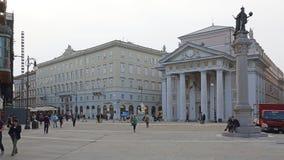 Piazza Della Borsa in Trieste Royalty Free Stock Photo