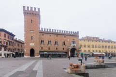 Piazza Della Cattedrale, Ferrara Stock Image