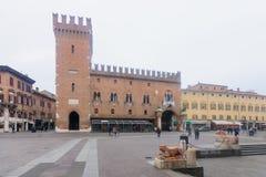 Piazza Della Cattedrale, Ferrare Image stock