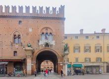 Piazza Della Cattedrale, Ferrare Images stock