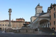 Piazza della Liberta in Udine,Italy at sunrise time. Stock Photography