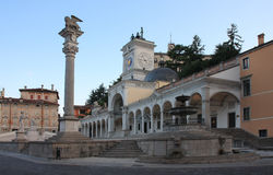 Piazza della Liberta in Udine,Italy at sunrise time. Stock Images