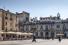 Piazza della Loggia (Loggia square) Royalty Free Stock Image