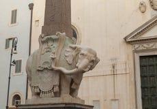 Piazza della Minerva Stock Afbeeldingen