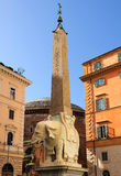 Piazza della Minerva  elephant by Bernini, Rome Royalty Free Stock Images