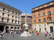 Piazza della Minerva, Rome Royalty Free Stock Photography