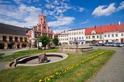 Piazza della polizia nad Metuji, repubblica Ceca Fotografia Stock