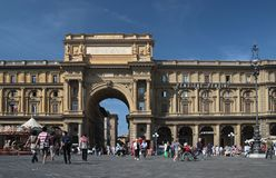 Piazza della Repubblica in Florence Royalty Free Stock Images
