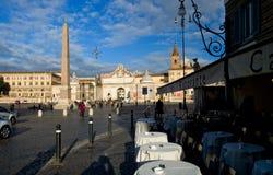 Piazza della Repubblica in Florence Stock Foto's