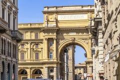 Piazza della Repubblica, Florence, Italië royalty-vrije stock afbeelding