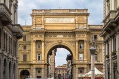 Piazza della Repubblica, Florence, Italy Stock Image