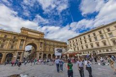 Piazza della Repubblica in Florence Royalty Free Stock Photo