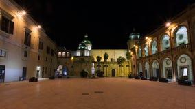 Piazza della Repubblica, Mazara del Vallo. Night view of Mazara del Vallo main square, Sicily Royalty Free Stock Photography