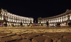 Piazza della Repubblica (Republic Square) in Rome Italy Stock Image