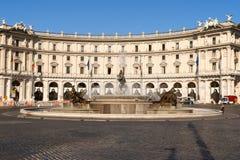 Piazza della Repubblica in Rome Royalty Free Stock Photo