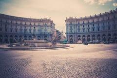 Piazza della Repubblica Royalty Free Stock Photography