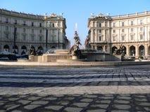 Piazza della Repubblica in Rome Royalty-vrije Stock Afbeelding