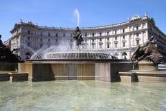 Piazza della Repubblica, Rome Stock Images