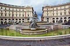Piazza della Repubblica Rome Italy Stock Photo