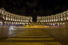 Piazza della Repubblica. Rome. Italy. Night view of Piazza della Repubblica. Rome. Italy stock photography