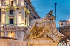 Piazza della Repubblica w Rzym, W?ochy fotografia stock