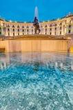 Piazza della Repubblica w Rzym, W?ochy obraz royalty free