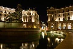 Piazza della republica Royalty Free Stock Photography
