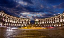 Piazza della Republica. Rome. Italy. Stock Image