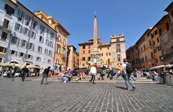 Piazza della Rotonda, Rome Royalty Free Stock Photos