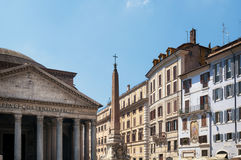 Piazza della Rotonda, Rome, Italy. Royalty Free Stock Photos