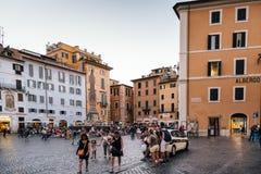 Piazza della Rotonda w dziejowym centrum miasta Rzym Zdjęcia Royalty Free