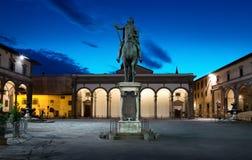 Piazza della Santissima Annunziata Royalty Free Stock Photos