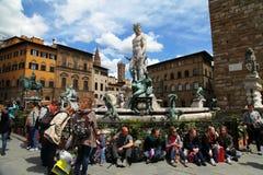 Piazza della Signoria Stock Photography