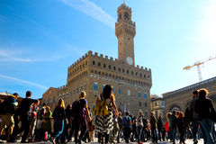 Piazza Della Signoria. Also called Lord square, it is the center of the city of Florence square, the whole show L, square plaza is not big but there are many royalty free stock images