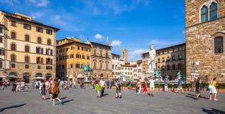 Piazza Della Signoria in Florence Stock Afbeeldingen