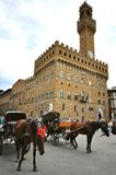 Piazza della Signoria in Florence city center , Italy Royalty Free Stock Image
