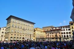 Piazza Della Signoria Florence, Italy Stock Photos