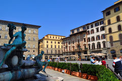 Piazza Della Signoria Florence, Italy Royalty Free Stock Images