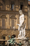 Piazza della Signoria. Florence, Italy- May 31, 2015. Neptune Statue in Piazza della Signoria, an L-shaped square in front of the Palazzo Vecchio in Florence Royalty Free Stock Images