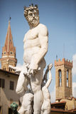 Piazza della Signoria. Florence, Italy- May 31, 2015. Neptune Statue in Piazza della Signoria, an L-shaped square in front of the Palazzo Vecchio in Florence Royalty Free Stock Photography