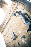 Piazza della Signoria in Florence, Perseus and David statue Royalty Free Stock Photos