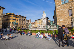 Piazza della Signoria of Florence in Tuscany, Italy Royalty Free Stock Photo