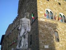 Piazza della Signoria and Fountain of Neptune in Florence Royalty Free Stock Photo