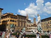 Piazza Della Signoria i Florence Royaltyfri Fotografi