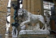 Piazza della Signoria lion Royalty Free Stock Images