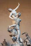 Piazza della Signoria, Loggia dei Lanzi, sculpture Rape of the Sabines Stock Photo
