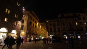Piazza della Signoria at Night, Florence, Hyper Lapse stock video footage