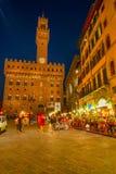 Piazza Della Signoria & Palazzo Vecchio Stock Image